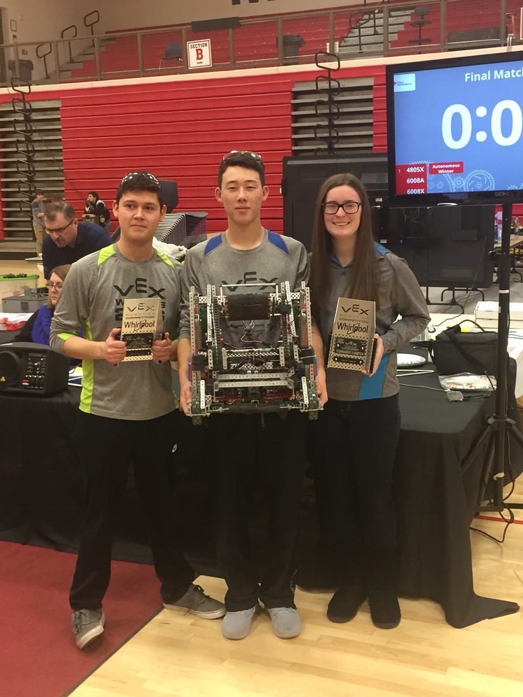 Skills Contest and Tournament Champs at Marion Harding Vex Robotics Competition