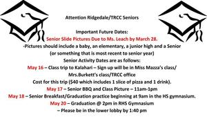 Attention Ridgedale/TRCC Seniors