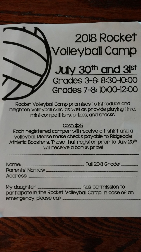 2018 Rocket Volleyball Camp