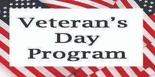 Veterans Day Program - Photos Needed