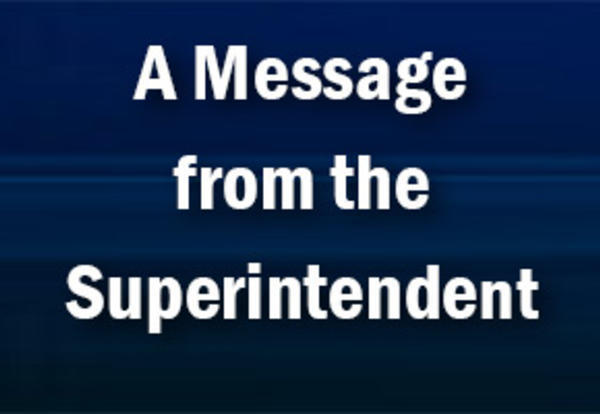 Superintendent Message 11-13-2020
