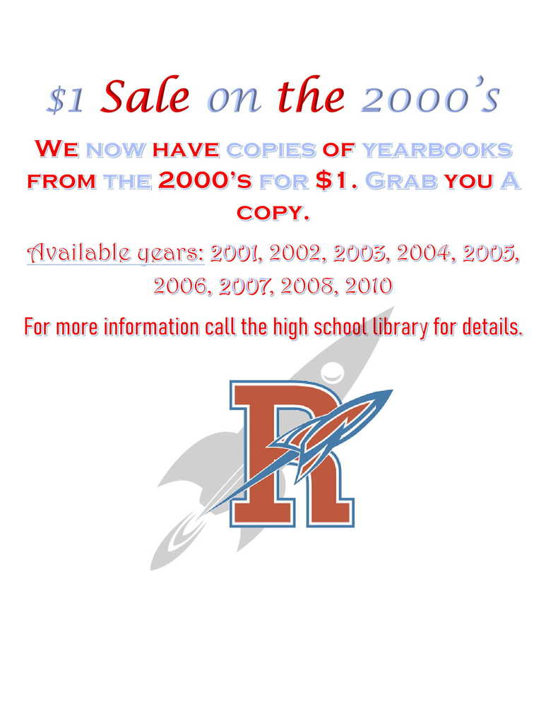 $1 Sale on the 2000  Years Yearbooks