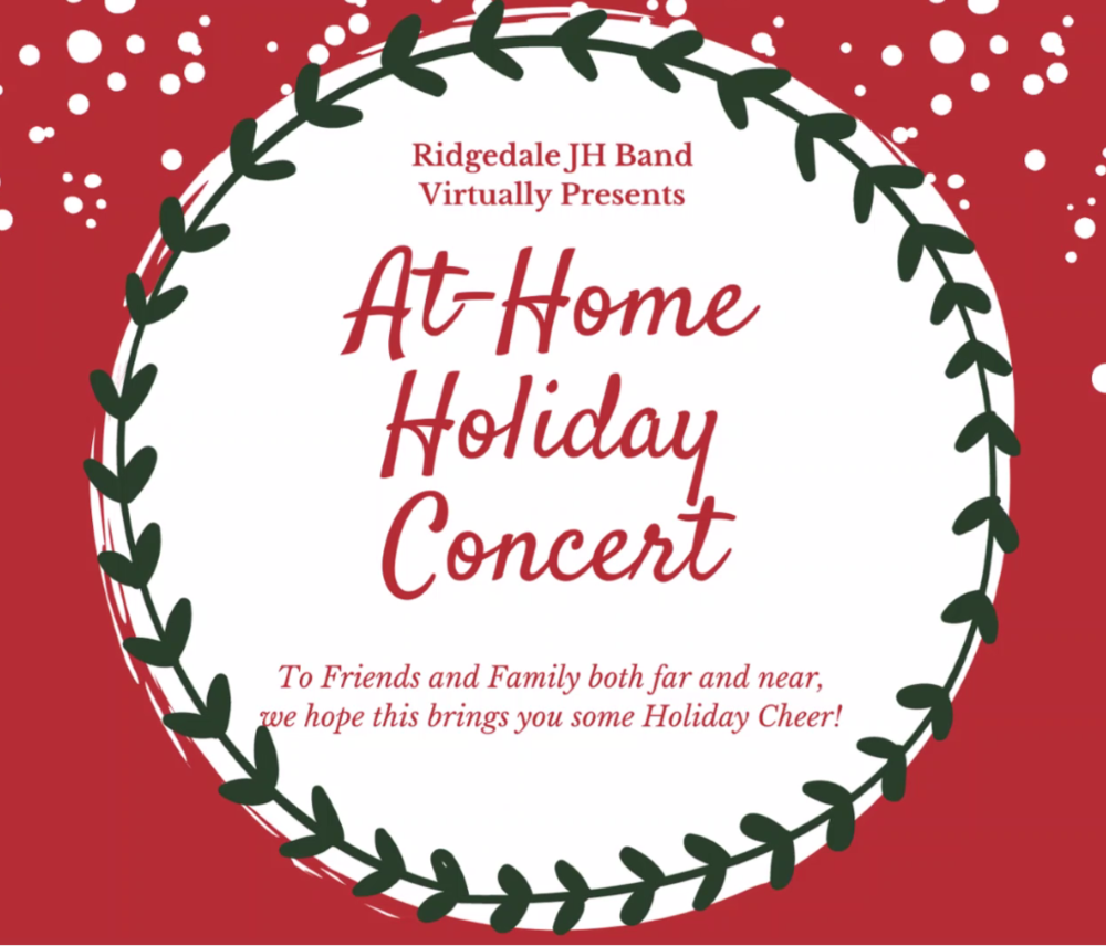 Ridgedale Junior High Band Virtual Holiday Concert 2020