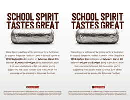 Chipotle Football Fundraiser 2019