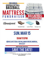 2nd Annual Softball/Baseball Mattress Fundraiser