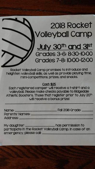 Rocket Volleyball camp