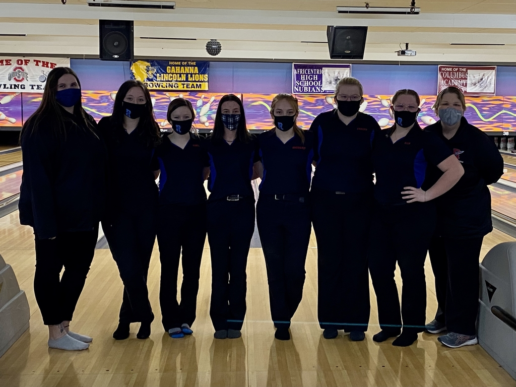 2021 RHS Lady Bowling Team and Coaches