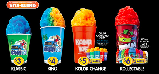 Kona Ice Price Chart