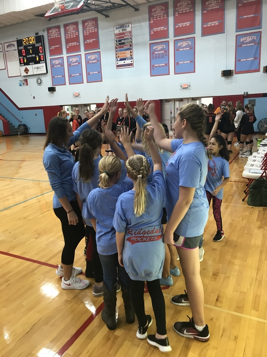 Youth Volleyball Huddle