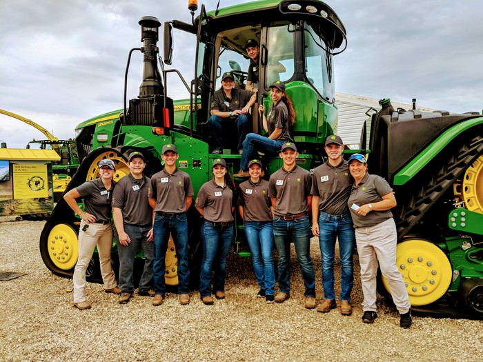 FFA Officers with John Deere Tractor