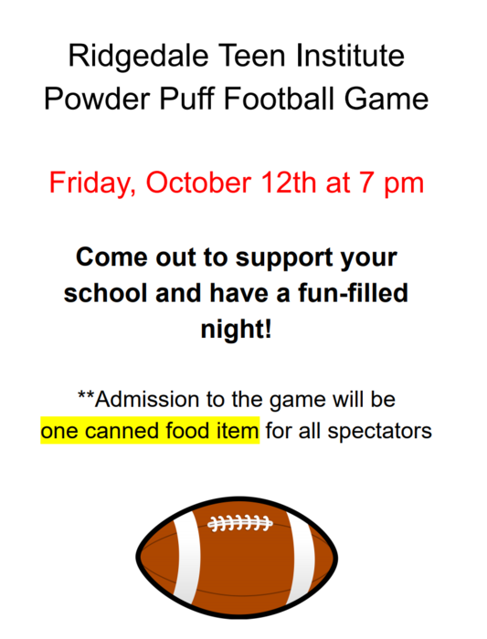 PowderPuff Football Flyer