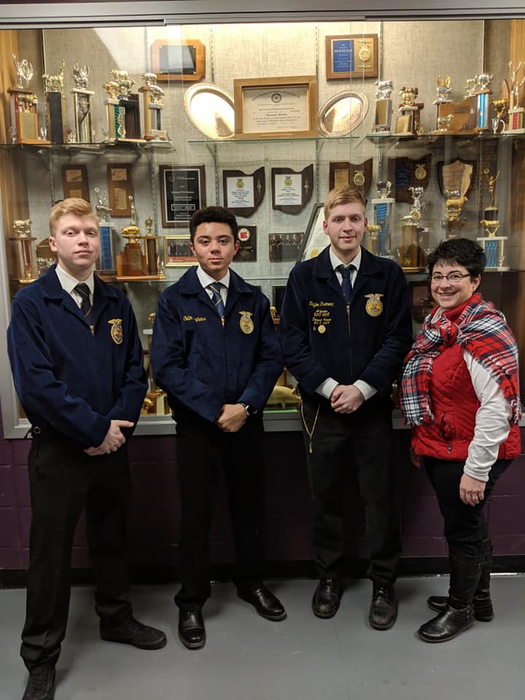 FFA members with teacher