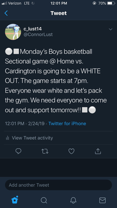 White Out Game Announcement
