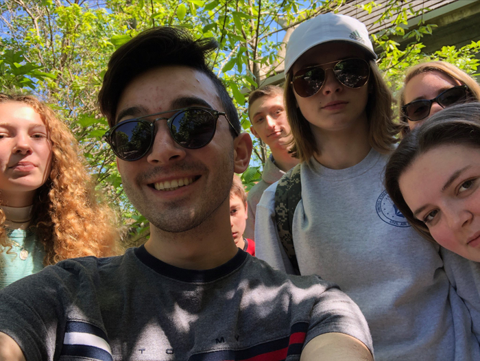Students at the zoo
