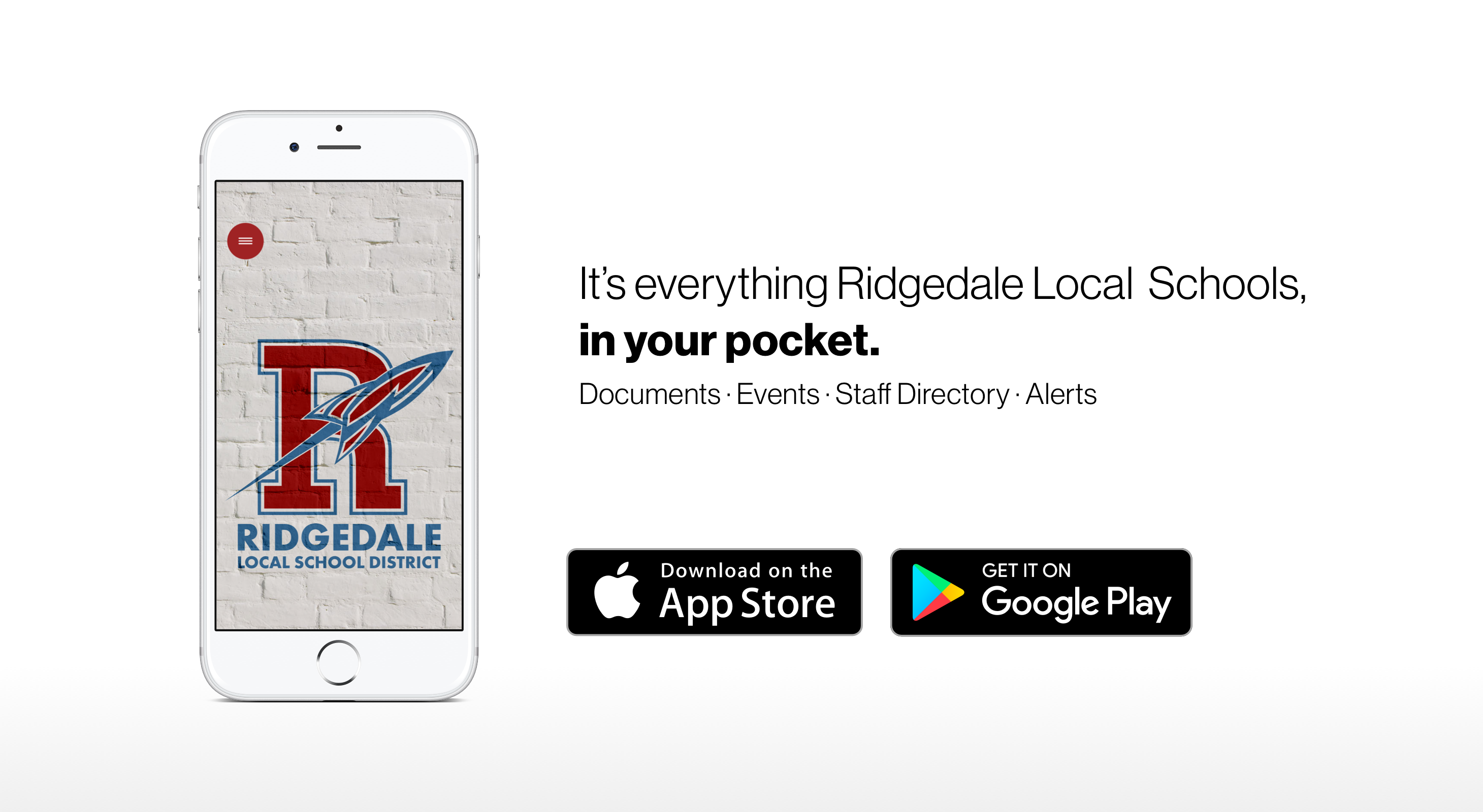 It's everything Ridgedale local Schools, in your pocket.